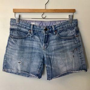 Gap Destructed Boyfriend Denim Shorts - 26/2